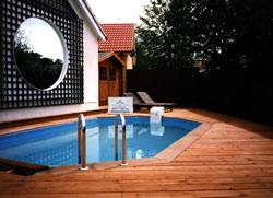 decking by pool photo